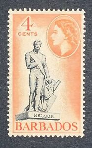 Travelstamps: BARBADOS - 1953 - QE II - NELSON STATUE - # 238 - MINT MNH SINGLE!