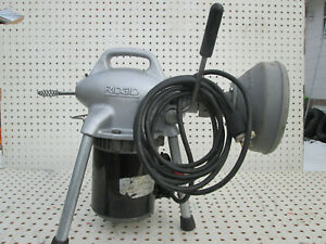"Ridgid K50 Sectional Drain Cleaner Machine & Adaptor 59250 & 25' x 5/16"" Cable"