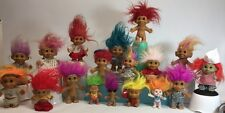 Huge Lot of 18 Vintage Troll Dolls - See Pics - Rainbow Hair - Collectible