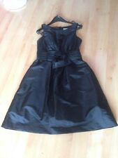 Black Roman Originals Dress Pleated Details At Waist & Flower Detail 12 BNWT