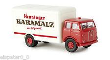 "MAN 10.212 F Valigia ""Karamalz Henninger"", H0 Auto Modello 1:87, Brekina 78371"