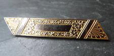 antique Edwardian gold plate / front engravable bar crooch c pin -C301