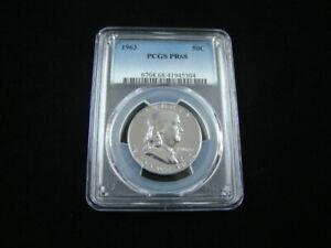 1963 Franklin Silver Half Dollar PCGS Graded PR68 #41945304