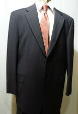 Men's Suit, 46R/43W, Made in Italy, Blue Stripe, NWT