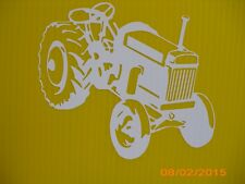 VINYL WHITE OLD TRACTOR WINDOW DECAL