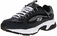 Skechers Mens Cutback 51286 Low Top Lace Up Running, Navy/Black, Size 9.0 jehr