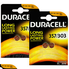 4 x Duracell Silver Oxide 357 303 1.5V batteries Watch D357 V303 V357 SR44