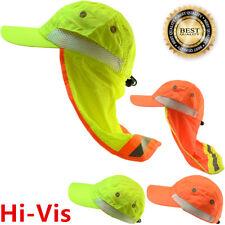 High Visibility Neck Flap Safety Reflective Waterproof Baseball Hats Bump Cap