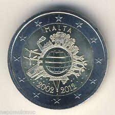 2 € conmemorativa 2012 Malta euro-dinero en efectivo
