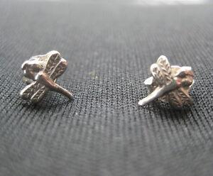Dragonfly Earrings Sterling Silver .925 Studs Jewelry