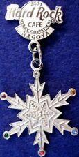 Hard Rock Cafe NAGOYA 2001 Merry Christmas PIN Snowflake Logo Dangler HRC #18745