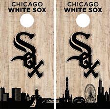 Chicago White Sox Cornhole Wrap MLB Game City Skyline Skin Vinyl Decal CO920