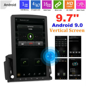 9.7'' Android 9.0 Vertical Screen GPS Bluetooth WIFI 1G+16G Car Radio MP5 Player
