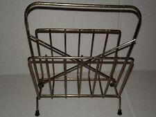 Vintage Original Brass  Square Napkins Wire Holder 1950s 1960