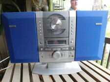 Fisher Cd player Stereo blue speakers Radio etc Music! Silver all in One compact