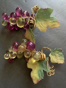 Lucite Grapes 2 Small bunches purple and green