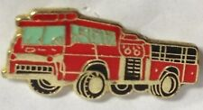 RED FIRE ENGINE TRUCK LAPEL PIN HAT TAC NEW