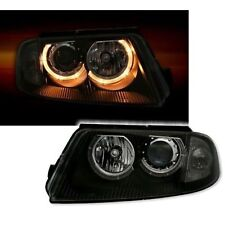 2 PHARES ANGEL EYES VW PASSAT 3BG BERLINE BREAK 11/2000-05/2005 LED NOIR CRISTAL