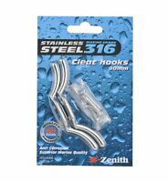 Zenith CLEAT HOOK Tying Off Awning Rope STAINLESS STEEL, 2pcs- 60mm or 90mm