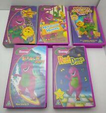 5 X Barney VHS video bundle Lot 1