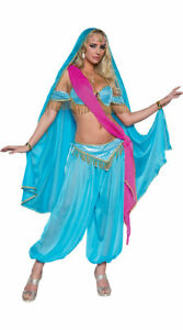 Womens Deluxe Exotic Jewel Of The East Costume, Sexy Blue Princess Costume