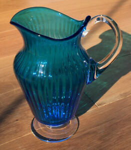 Blue Hand Blown Art Glass For Sale Ebay