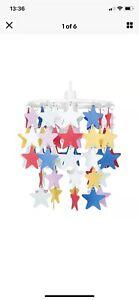 Girls Modern Multi Coloured Stars Ceiling Pendant Light Chandelier Lamp Shade
