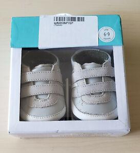Robeez Carter Grey Baby Mini Shoe - 6-9 months