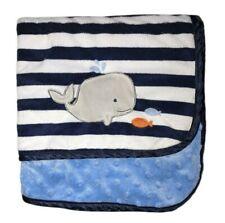 New ListingChild Of Mine Whale Fish Blue White Stripe Baby Blanket Minky Dot Carter's Lovey