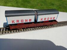 """Roco Flachwagen mit 2 x  """"Circus Krone """"aus Roco 44008 ohne OVP."""