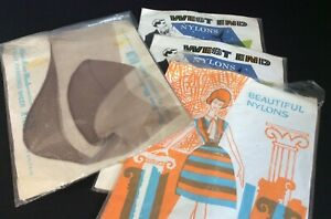 Vintage Retro 4 Pairs of Stockings Nylons in Original Packaging 1950s IL