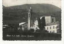 82074 VECCHIA CARTOLINA CHIESA DI SAN CARLO SPINONE BERGAMO