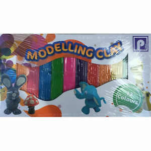 12x Childrens Modelling Clay Kids Multicoloured Plasticine Strip Arts And Crafts