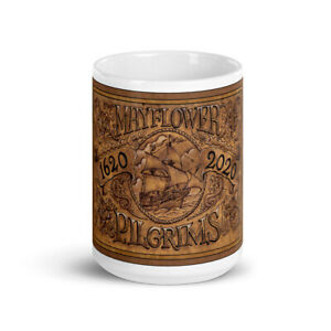Mayflower 400 '1620' White glossy mug - LIMITED EDITION