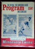 1963 Mickey MANTLE HR #407/536 Vintage Baseball Program New York Yankees Homerun