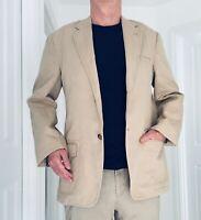concrete coton linen tan stone ish color blazer size50 condition 9/10