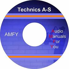 Technics audio servicemanuals, ownersmanuals and schematics on 3 dvd
