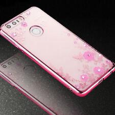 Custodia cover Luxury Diamond pr Huawei Honor 8 case TPU brillantini trasparente