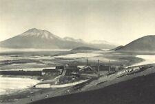 CHILE. Cebollar. Lago de borax de Ascotán. Lake 1932 old vintage print picture