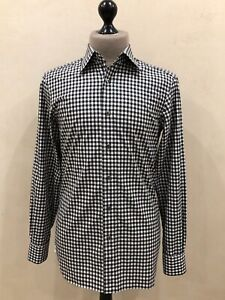 Men's TOM FORD Cufflinks Checked Shirt Size 40/15