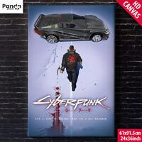 CYBERPUNK 2077 Poster Canvas (60x90cm/24x36in) Akira Wall Art Print