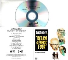 CORDUROY Return Of The Fabric Four 2018 UK 12-trk promo test CD