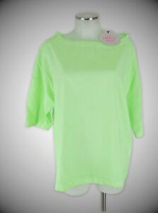 Arlette Kaballo Kadue Shirt 40 neon grün oversized Polyester Bluse Top neu m.E.