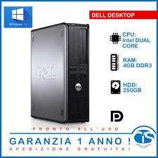 DELL 780 VELOCE RIGENERATO DESKTOP FISSO PC COMPUTER HP RICONDIZIONATO INTEL
