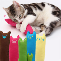 Fun Interactive Fancy Catnip Cat Pillow Toy Pets Teeth Grinding Claws Funny Toys