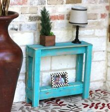 TURQUOISE RUSTIC SIDE TABLE