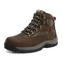 NORTIV 8 Men's Hiking Boots 24H Outdoor Waterproof Mid Ankle Leather Hiker Boots
