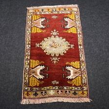 Türkischer Orient Teppich 82 x 49 cm Rotrost Gold Old Turkish Konya Carpet Rug