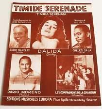 Partition sheet music DALIDA GILLES SALA DARIO MORENO EDDIE BARCLAY * 50's