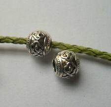 15 pcs Tibetan silver big hole flowers Charm Spacer beads 11x9mm
